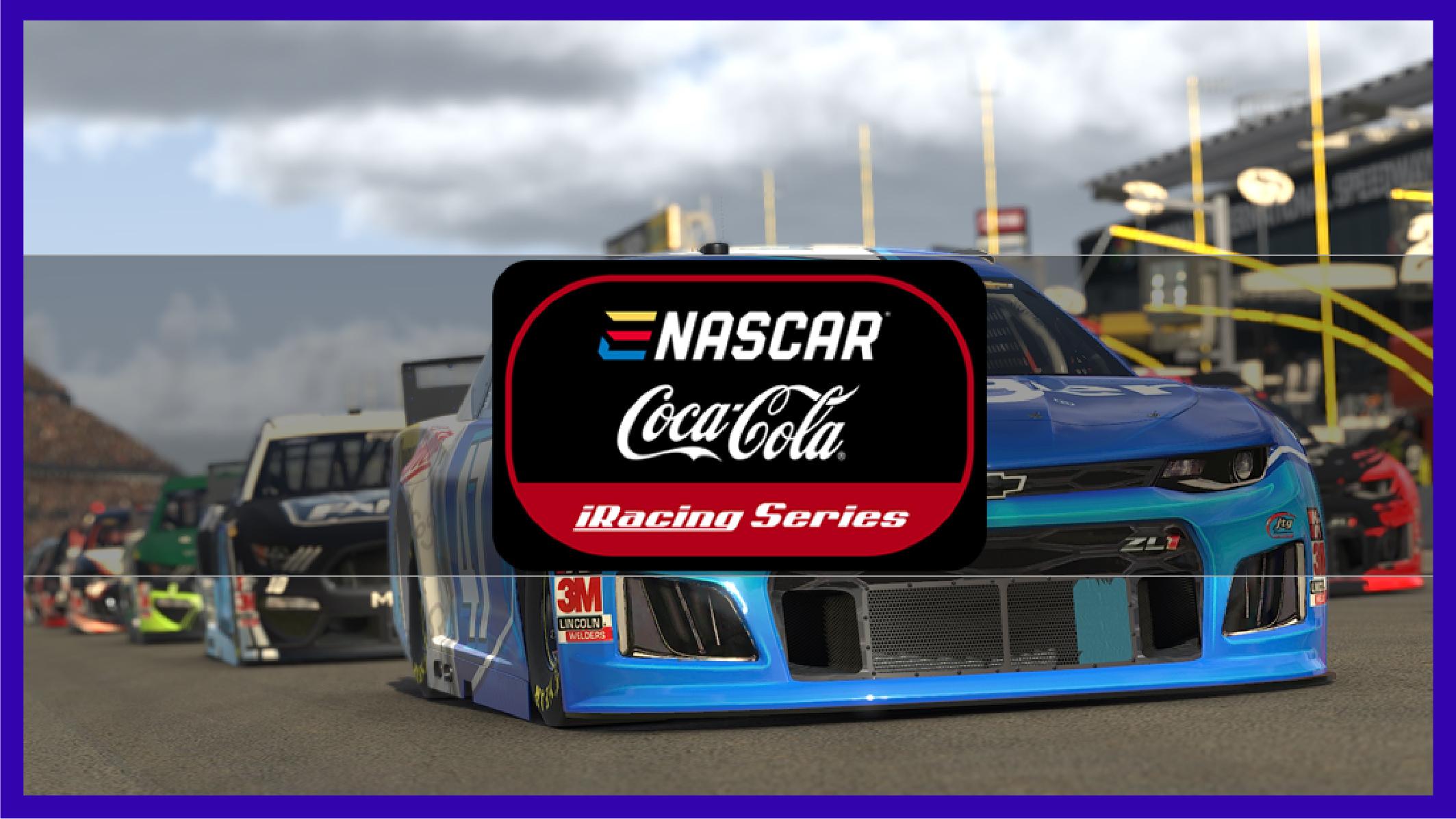 Coca cola sponsored Nascar Iracing series