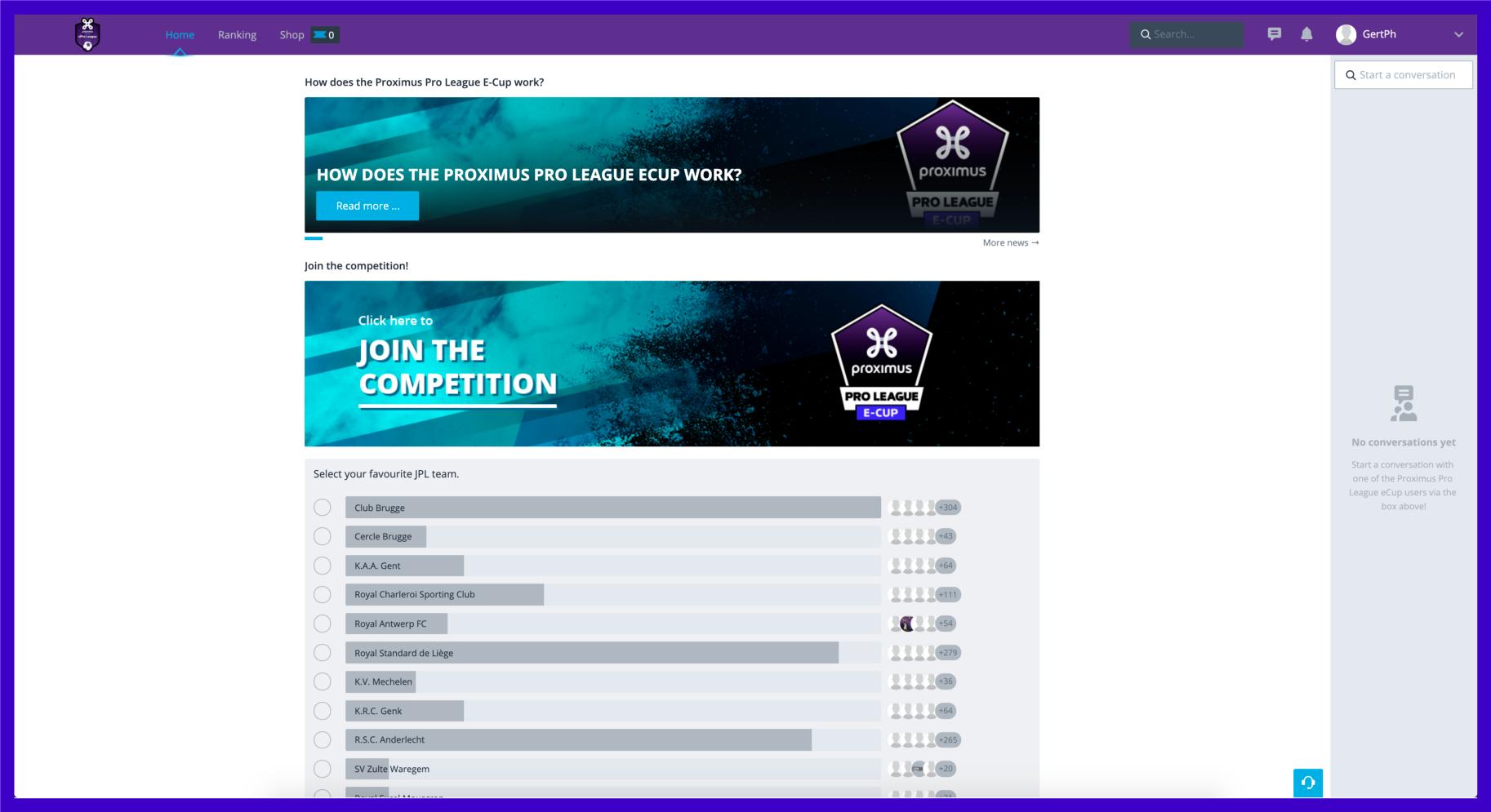 Proximus and Pro League Belgium StriveCloud Platform
