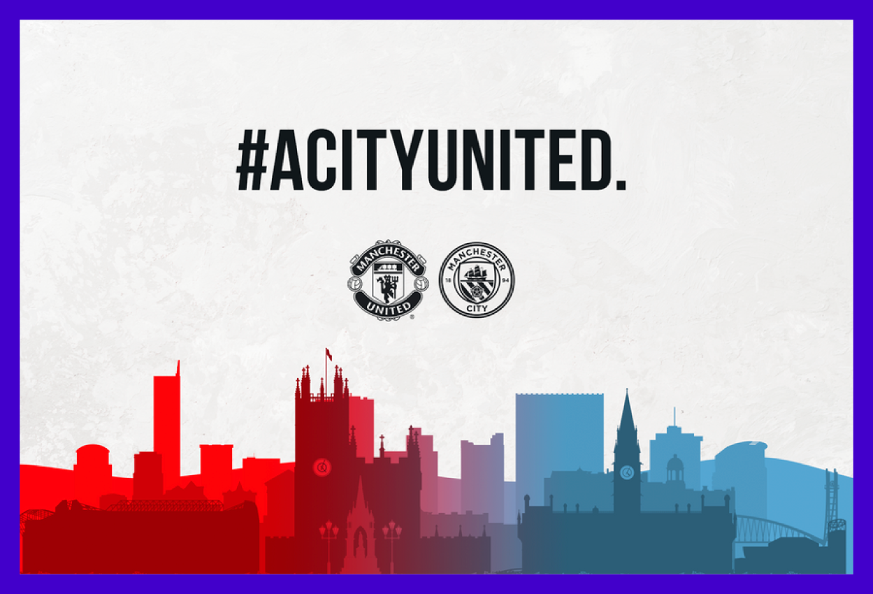 Manchester United teams up with Manchester City to support local foodbanks during Corona