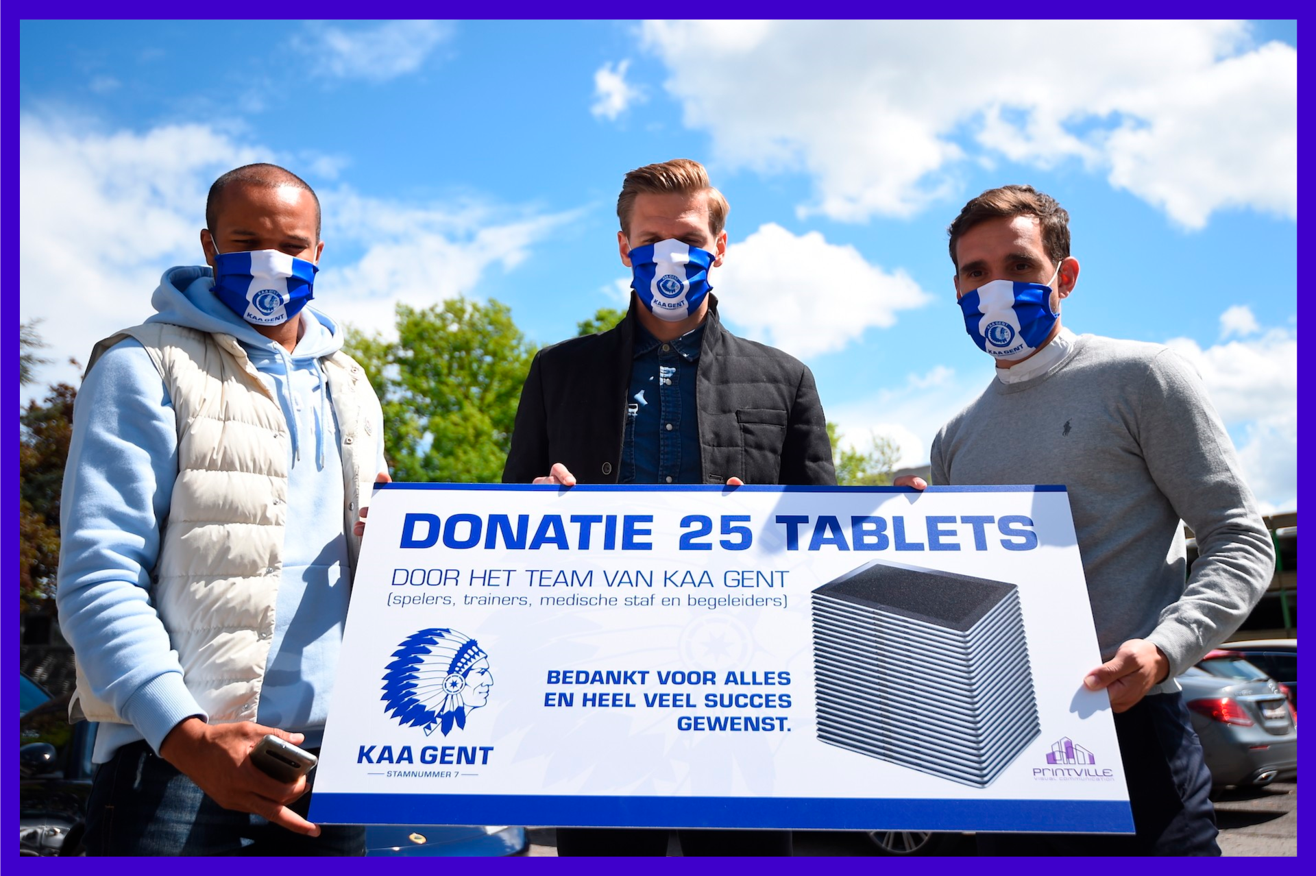 KAA Gent donates 25 tablets to belgian hospitals to lower the workload for people who work in hospitals