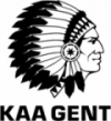 KAA Gent black and white logo