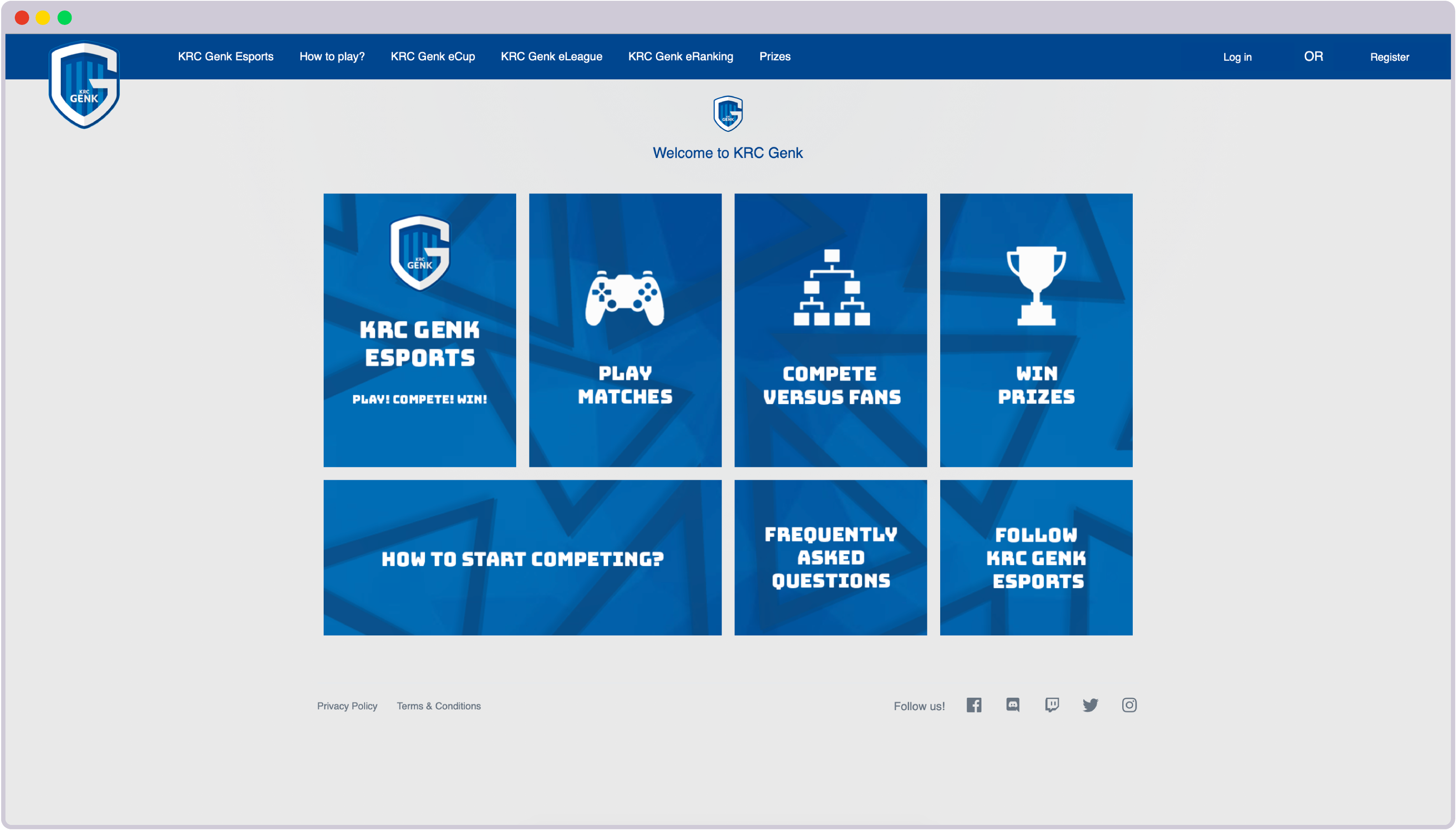 Gaming Tournament platform designed by StriveCloud to help sports clubs like KRC Genk gain esports fan engagement