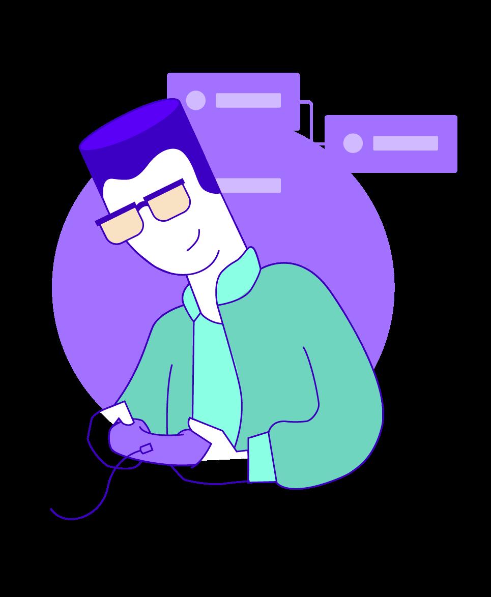 Bracketboy, gaming cartoon