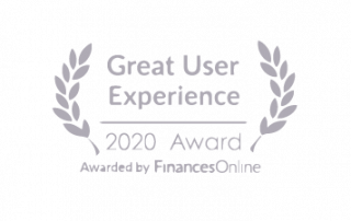 Great user experience, 2020 award, awared by finances online