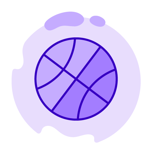 StriveCloud - For sports organizations image - vector art of a basketball
