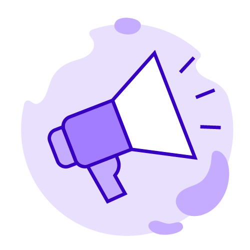 StriveCloud - For agencies image - Vector of a megaphone